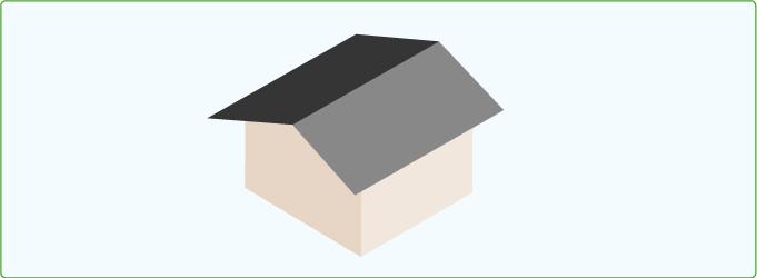 切妻屋根(きりづま)