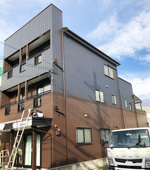 京都市 – 築20年建坪30坪3階戸建て初めての外壁・屋根塗装【No.232】