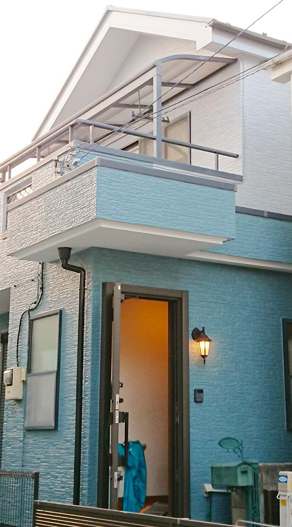 福生市 -築17年建坪26坪2階戸建てのサイディング外壁塗装、屋根塗装【No.263】
