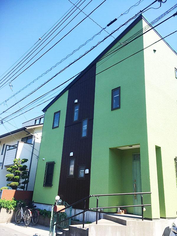 越谷市 -築15年2階戸建てはじめてのモルタル外壁塗装工事【No.271】