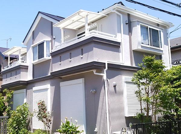 船橋市 -築11~15年2階戸建てはじめてのモルタル外壁・スレート屋根塗装【No.275】