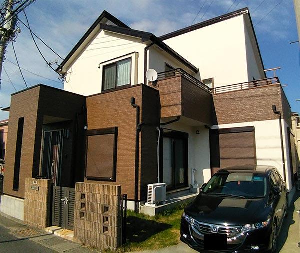平塚市 -築11年33坪2階建て初めての外壁・屋根塗装、防水工事【No.277】