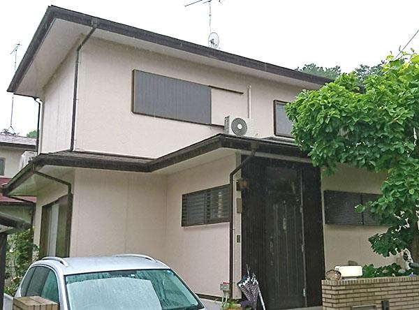 東松山市 -築31年以上延床90㎡2階戸建てサイディング外壁・スレート屋根塗装【No.279】