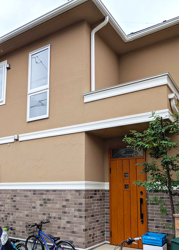 東村山市 -築14年床面積96㎡2階戸建てモルタル外壁・スレート屋根塗装工事【No.285】