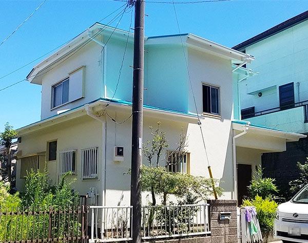 横浜市 -築40年床面積77㎡2階戸建ての外壁・屋根塗装工事【No.291】