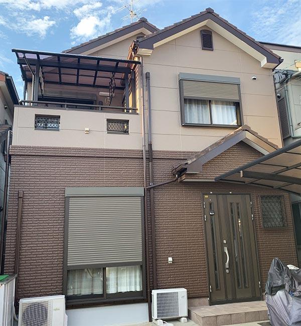 松原市 -築13年約30坪2階戸建てALC外壁塗装工事【No.301】