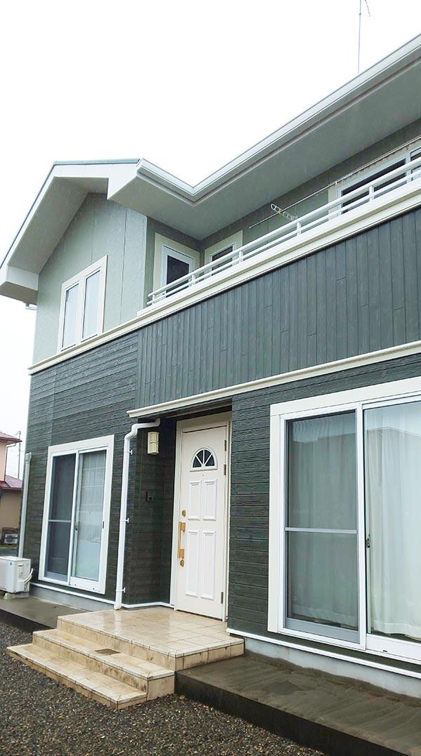 塩谷郡 -築16年延床119.5㎡2階一戸建て初めてのサイディング外壁・スレート屋根塗装工事【No.312】