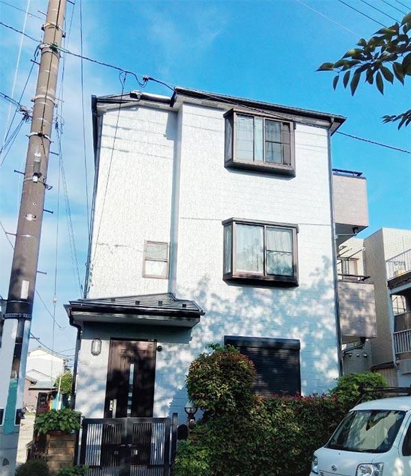 川口市 -3階一戸建ての屋根・外壁塗装、シーリング工事【No.345】